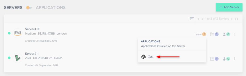 בחרו את האתר שלכם מתוך הרשימה הנפתחת