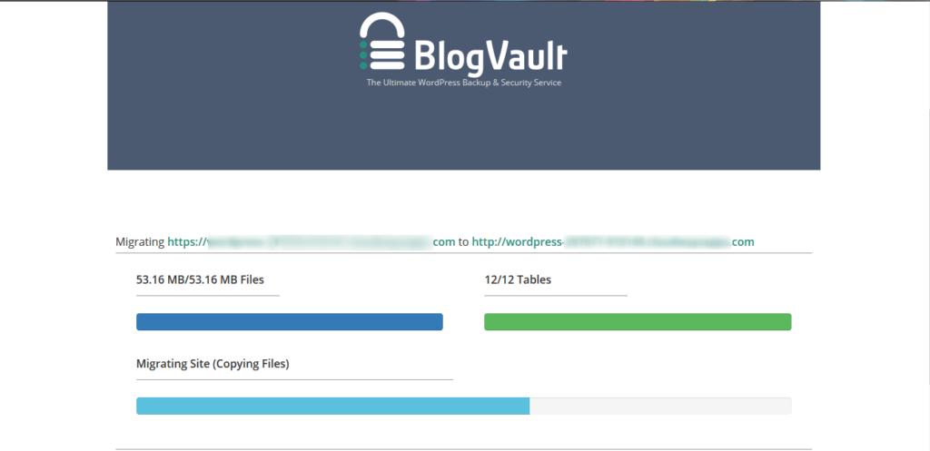 נתוני תהליך העברת אתר וורדפרס