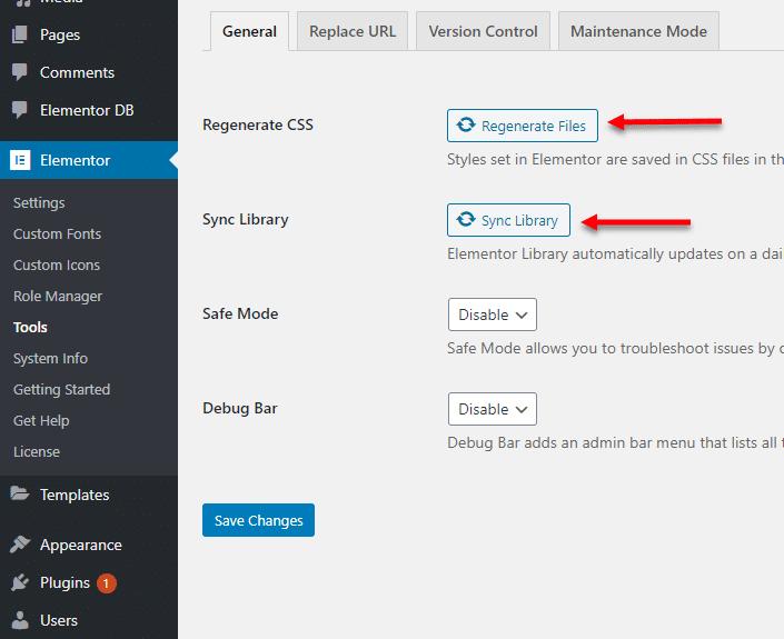 איך לגרום לאלמנטור ליצור מחדש את הקבצי CSS ולסנכרן את התיקיית קבצים של אלמנטור