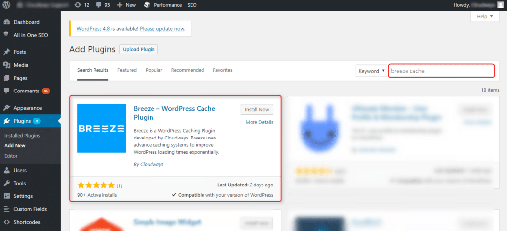 Breeze WordPress Cache Plugin