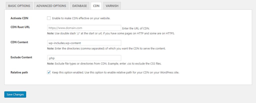 להגדיר CDN עם האתר באמצעות WordPress Breeze