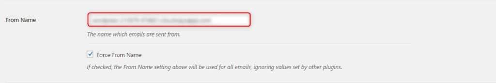 תיבת Force From Email