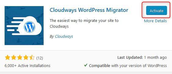 תוסף העברת אתרי הוורדפרס של Cloudways