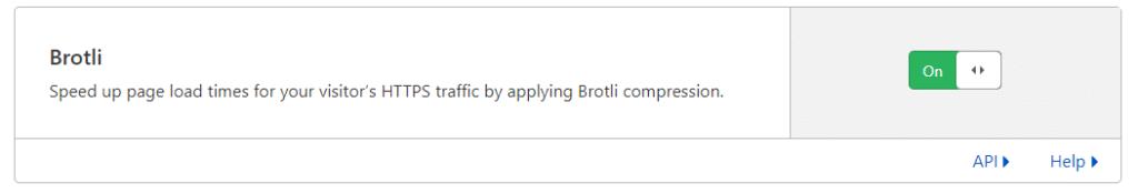 Brotli, שמכווצת את התעבורה מהשרת ונתמכת על ידי כל הדפדפנים