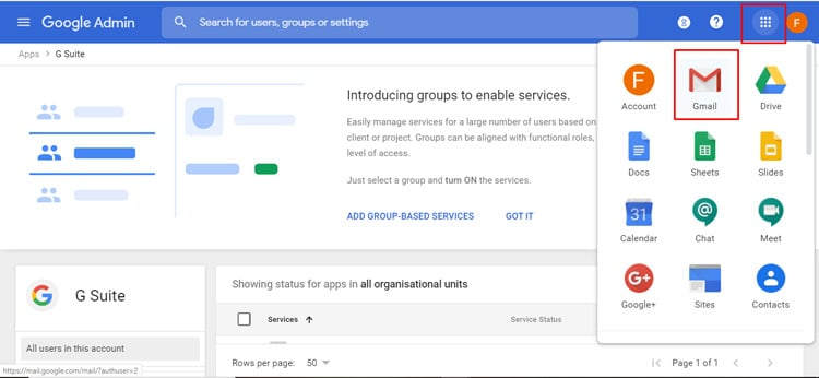 open gmail for gsuite